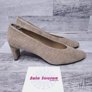 Vaneli Dayle Pump Taupe E print heels sz 8